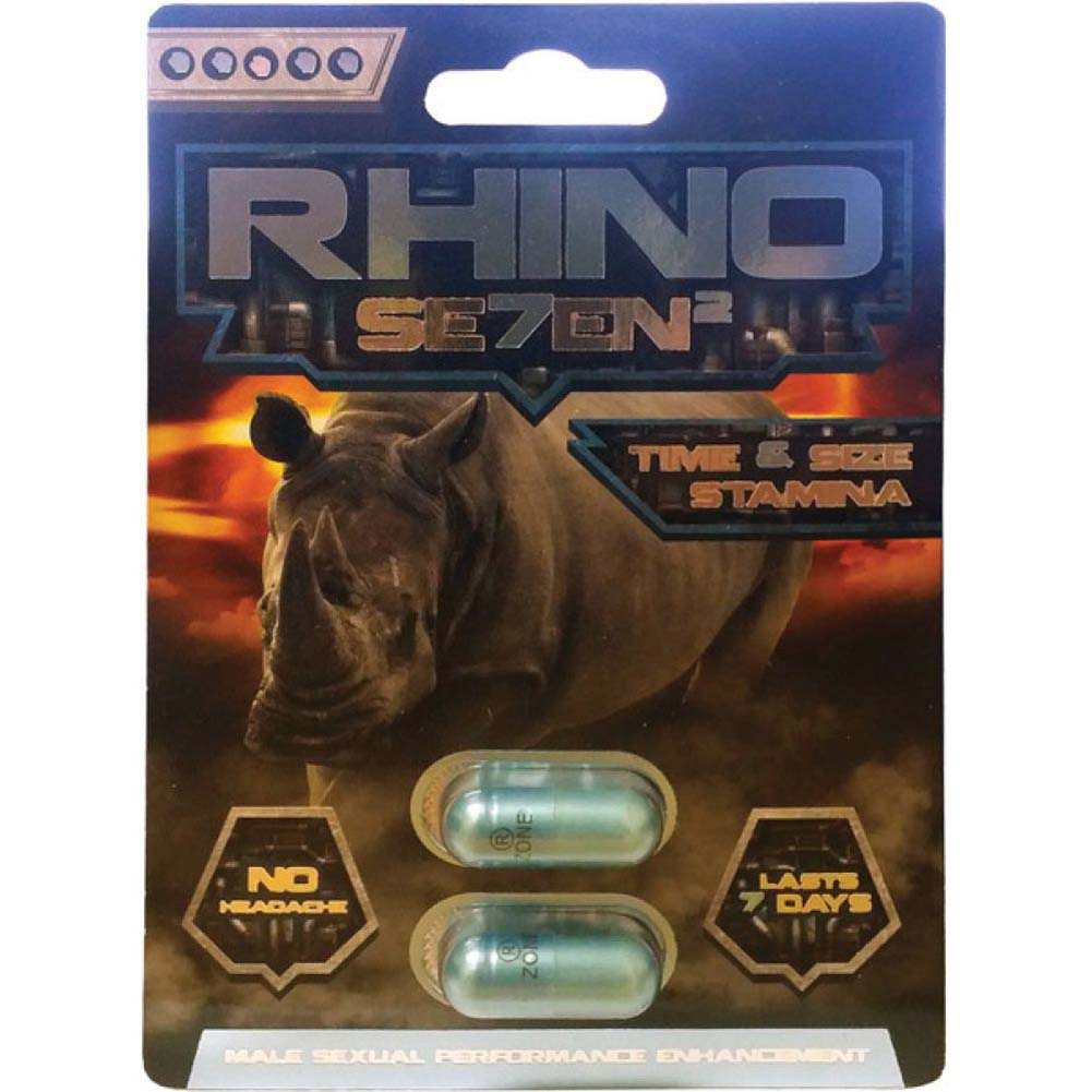 Rhino Seven 2 Male Sexual Enhancement Pill 2 Capsule Blister - View #1