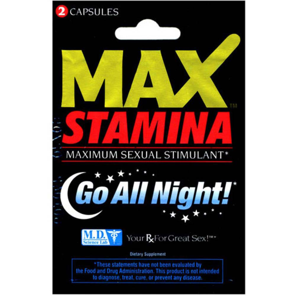 Max Stamina Male Sexual Stimulant 2 Capsule Blister - View #1