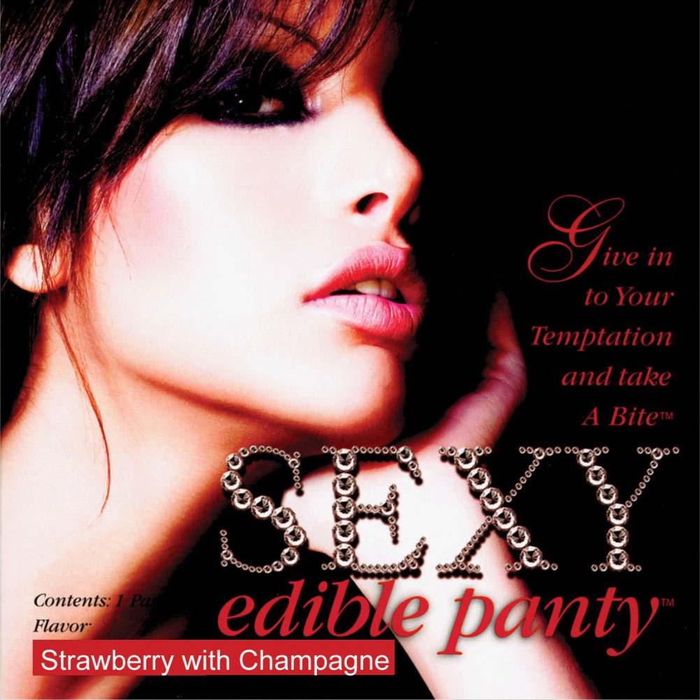 Sexy Female Edible Undies Strawberry With Champagne - View #1