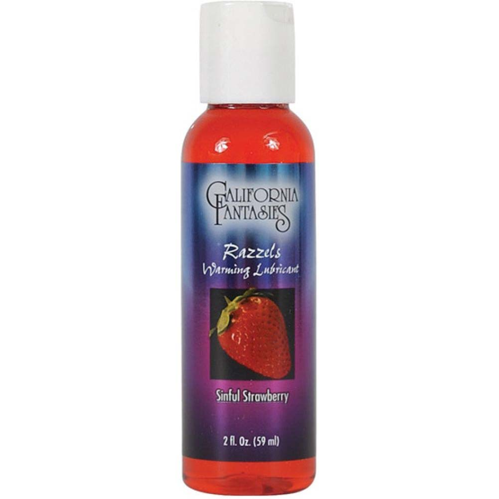 California Fantasies Razzels Warming Intimate Lubricant 2 Fl.Oz 60 mL Sinful Strawberry - View #1