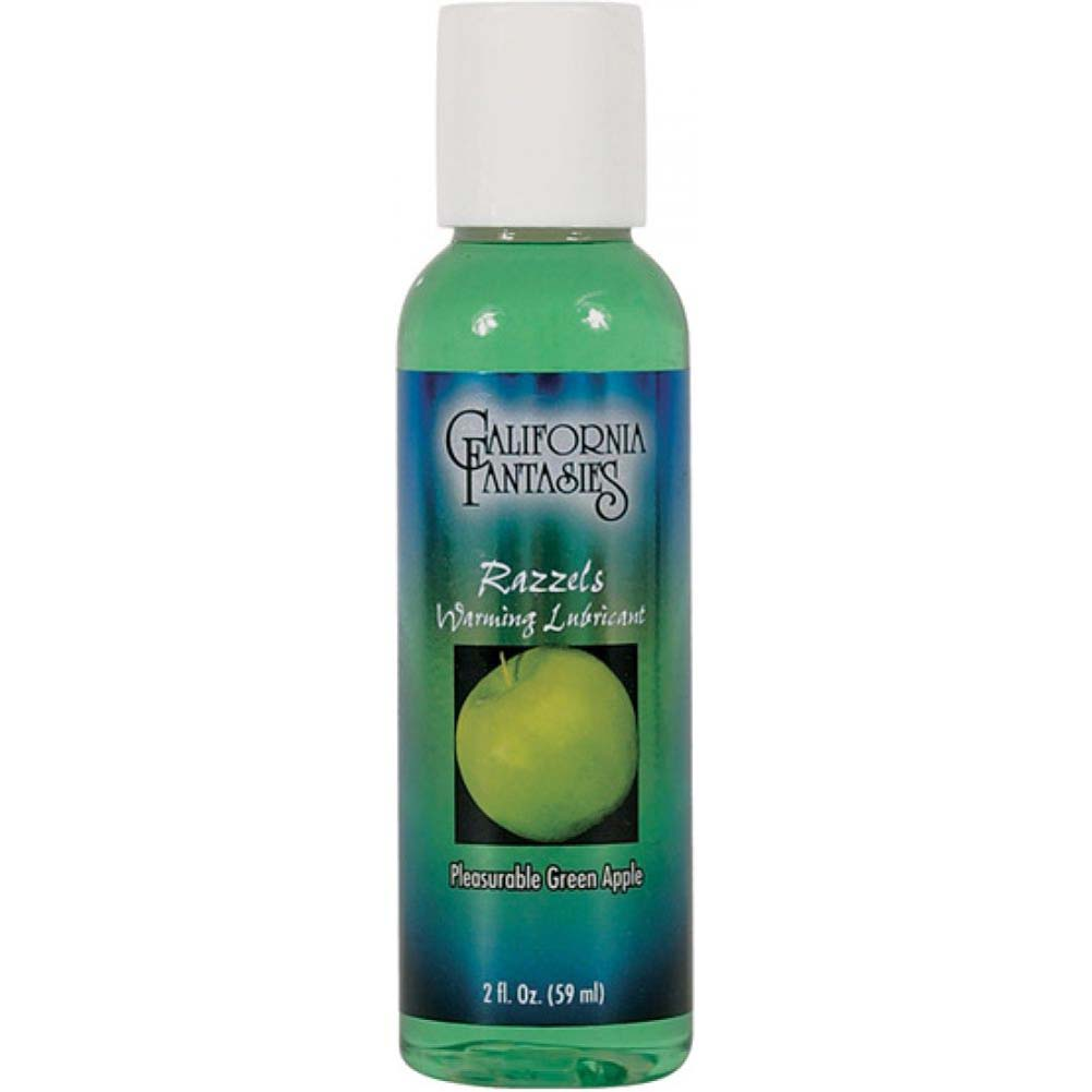 California Fantasies Razzels Warming Intimate Lubricant 2 Fl.Oz 60 mL Pleasurable Green Apple - View #2