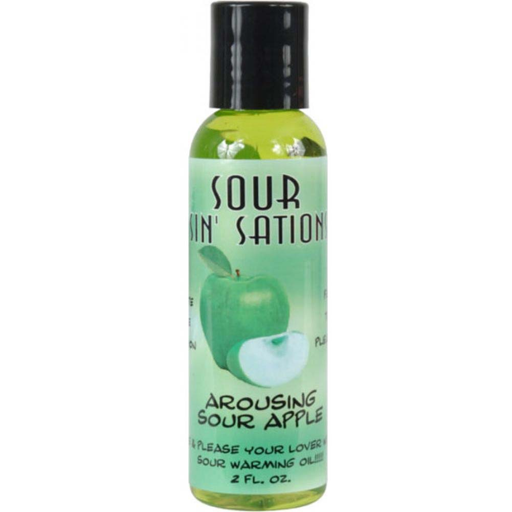 Sour Sin Sations Warming Edible Oil 2 Fl.Oz Arousing Sour Apple - View #1