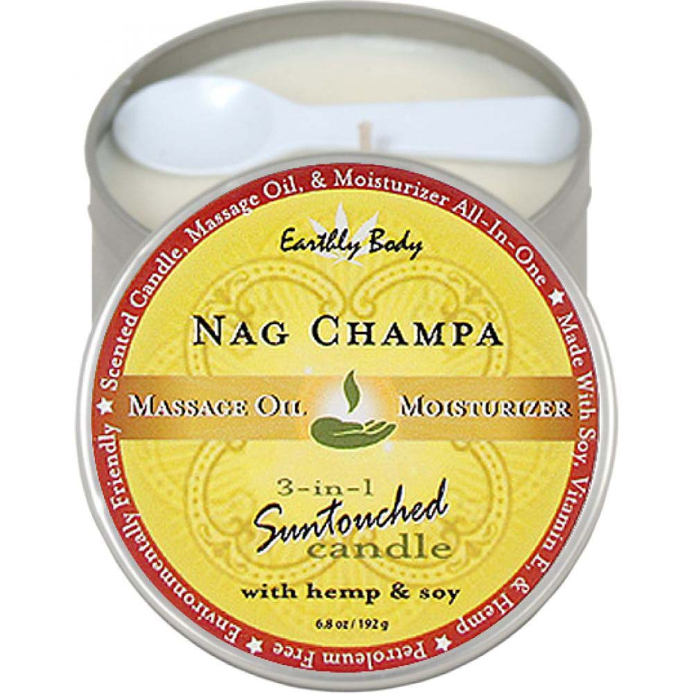 Earthly Body Suntouched Hemp Candle 6.8 Fl. Oz Nag Champa - View #1