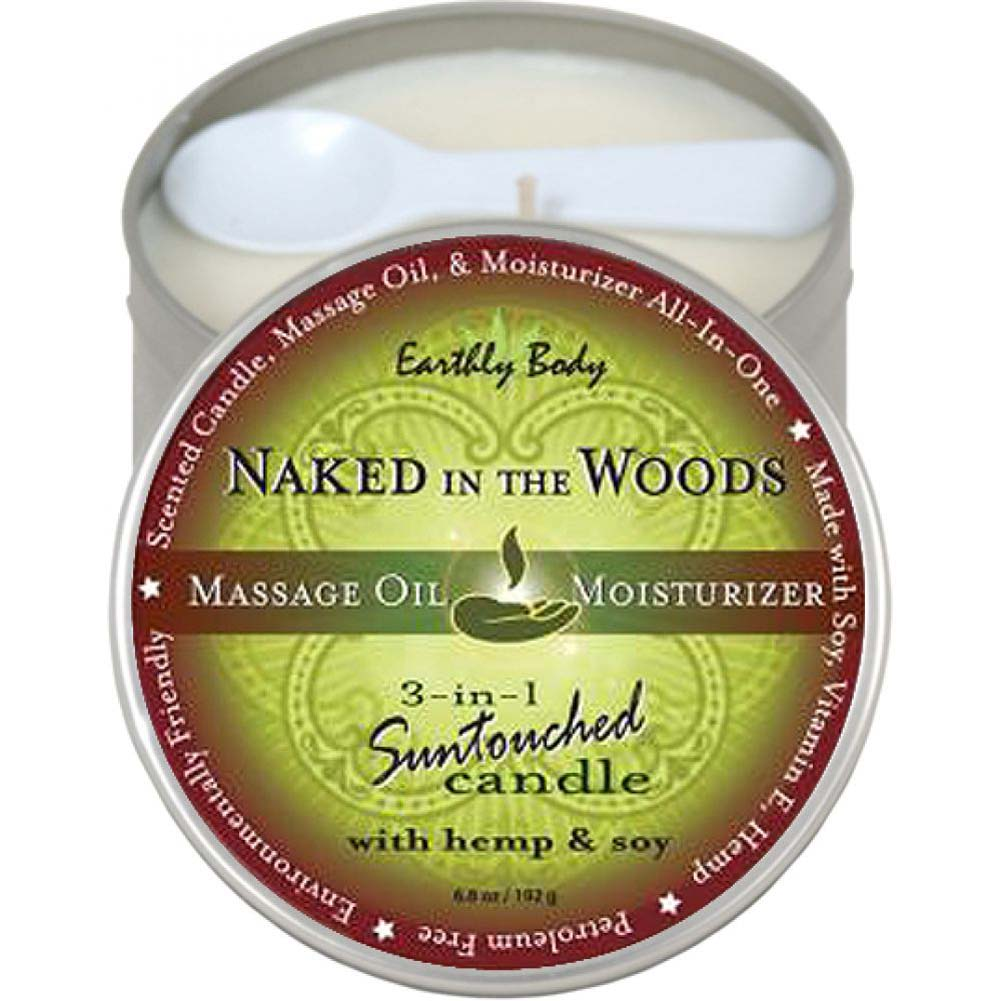 Earthly Body Suntouched Hemp Candle 6.8 Fl. Oz Naked in the Woods - View #1
