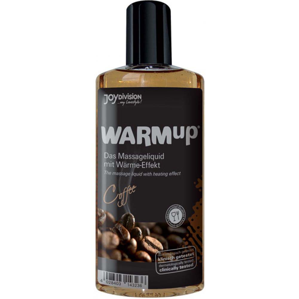 Joydivision Warmup Massage Oil with Heating Effect 5 Fl.Oz 150 mL Coffee - View #1