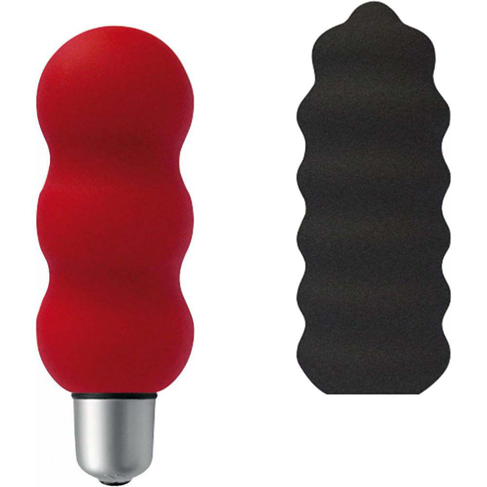 Joystick Micro Papillon Bullet Vibe Set with Silicone Sleeves Red/Anthracite - View #2