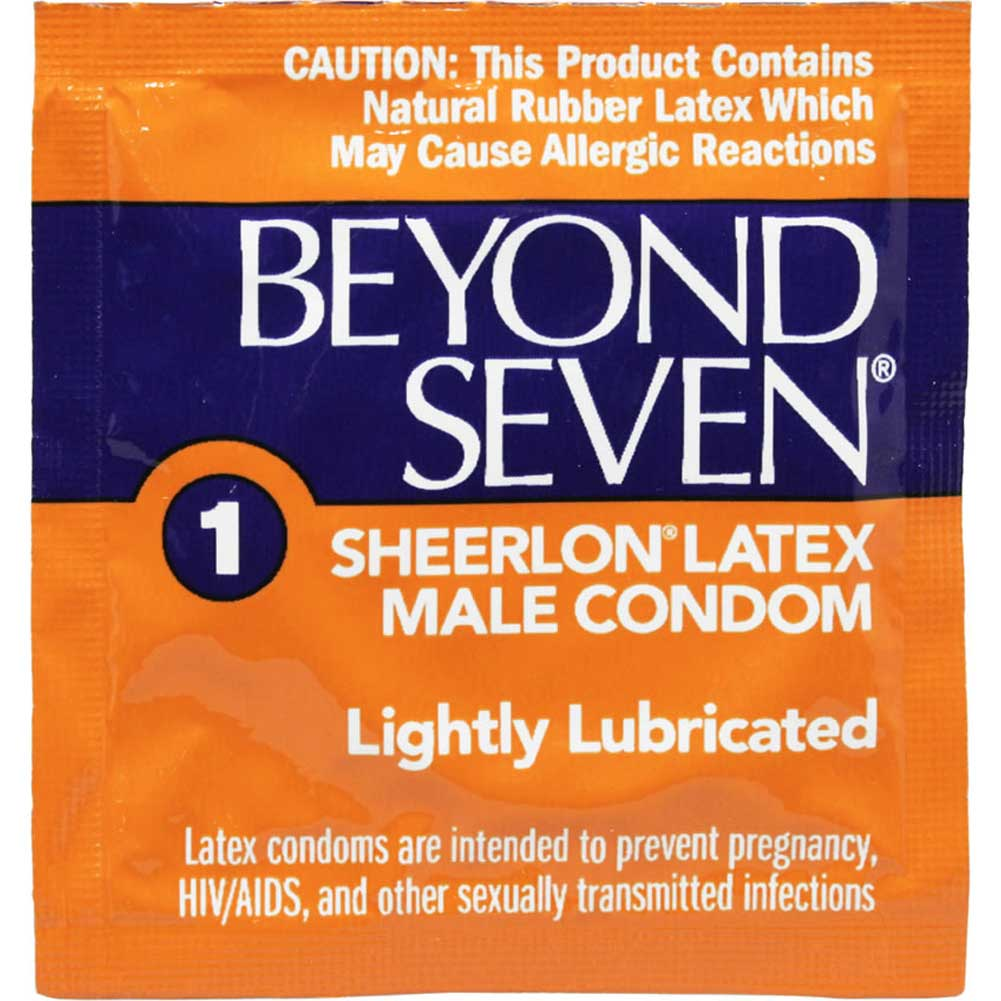 Beyond Seven Lightly Lubricated Latex Condoms 12 Pack - View #1