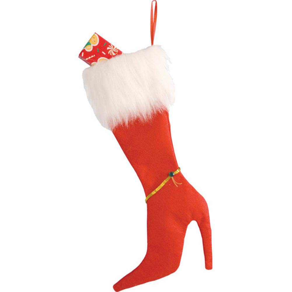 Forum Novelties High Heel Christmas Stocking Red - View #1