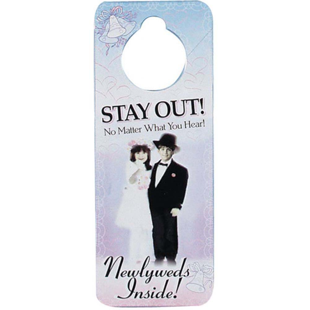Stay Out Newlywed Privacy Door Hanger - View #1