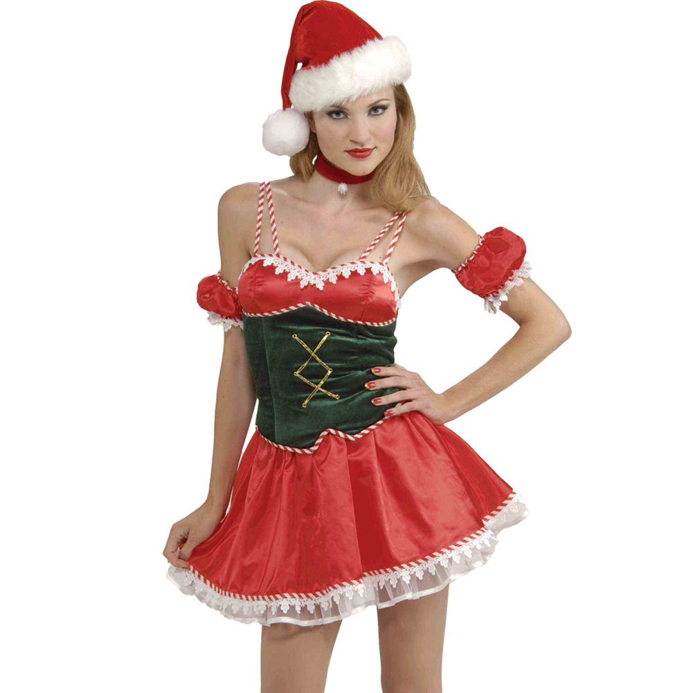 Santas Little Ho Ho Ho Sexy Christmas Costume Extra Small/Small Red - View #1
