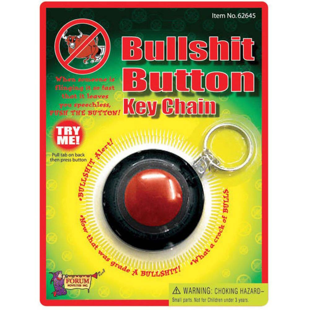 Bullshit Button Key Chain - View #1