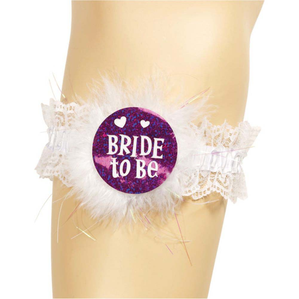 Forum Novelties Bride to Be Garter One Size White - View #1