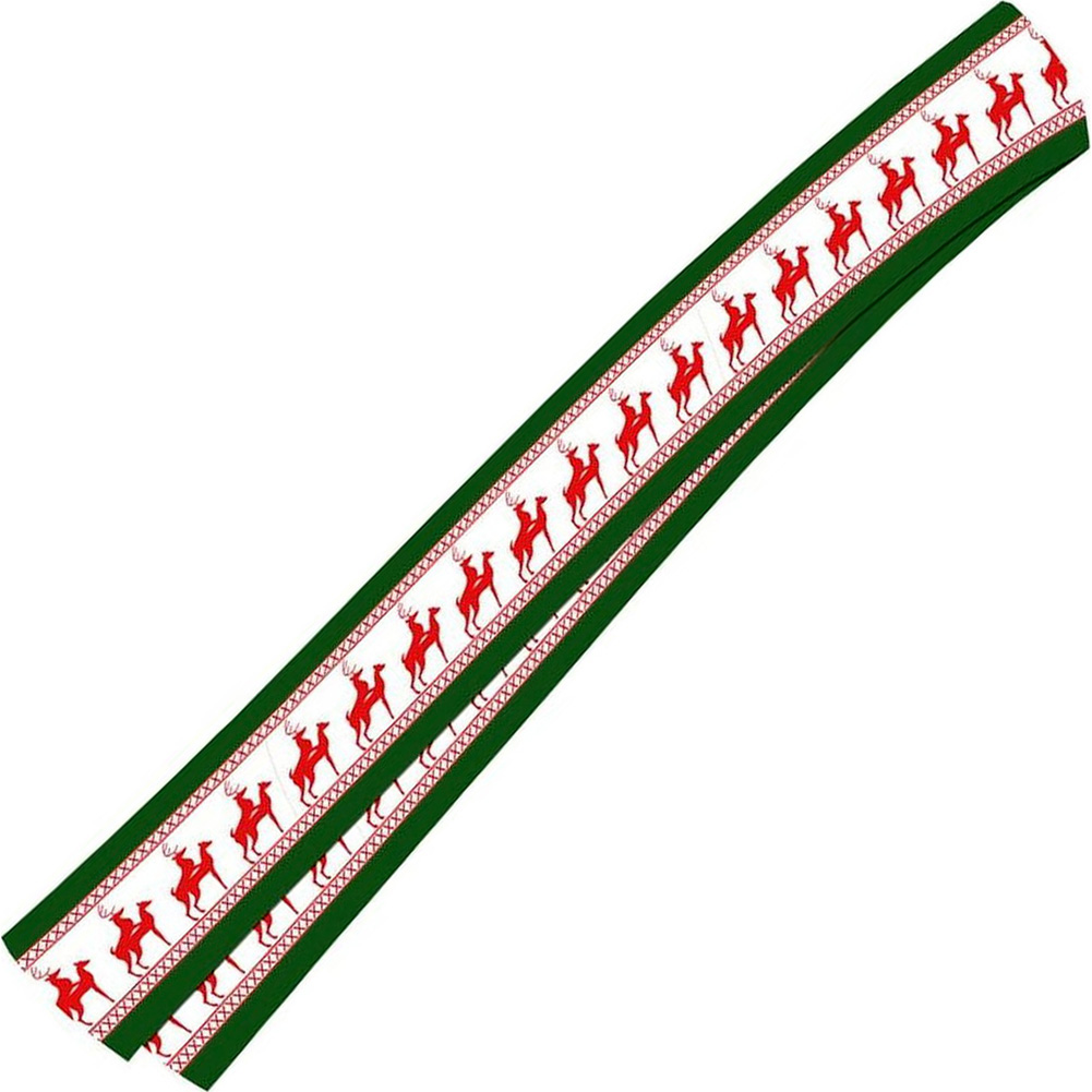 Forum Novelties Reindeer Games Laplander Scarf for Men and Women Green - View #2