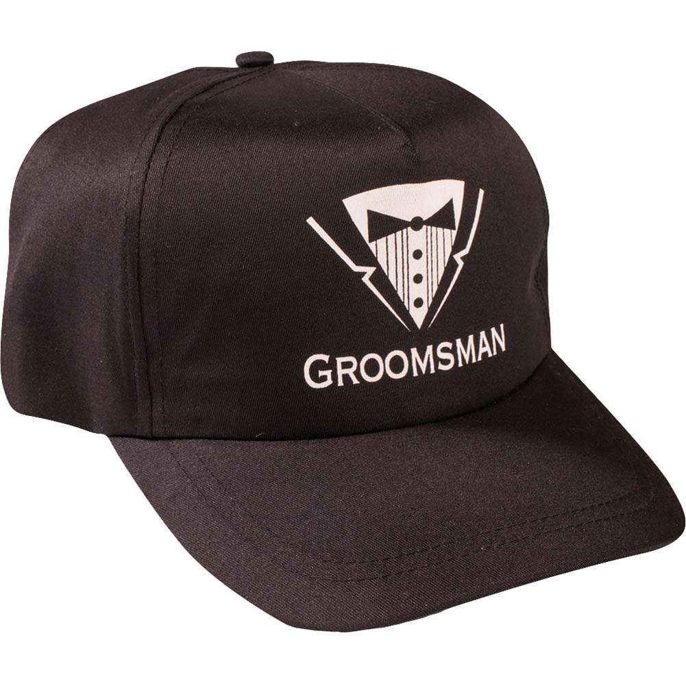 Forum Novelties Bachelor Hat Groomsman One Size Black - View #1