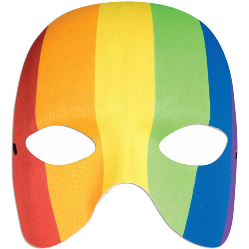 Forum Novelties Rainbow Half Mask One Size Multicolored - View #1