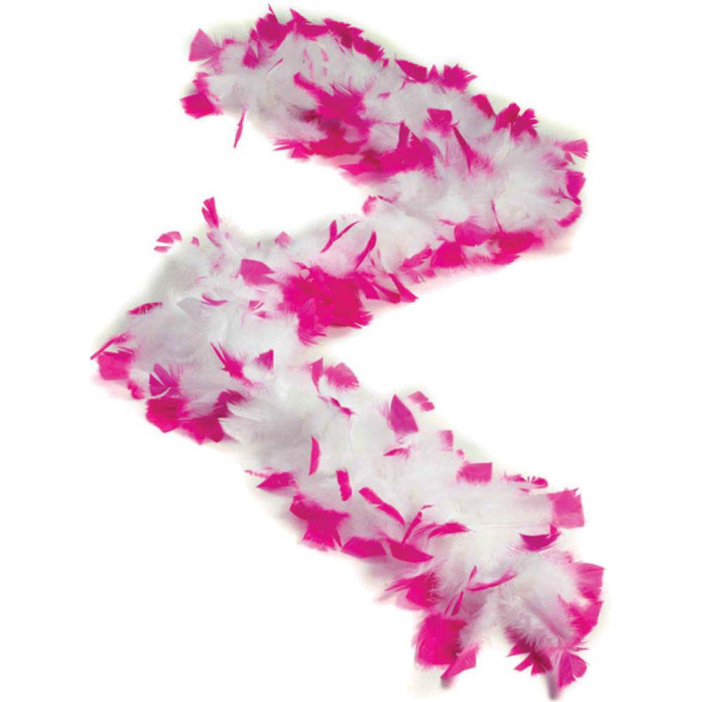 Forum Novelties Bachelorette Feather Boa White/Pink Tips - View #1