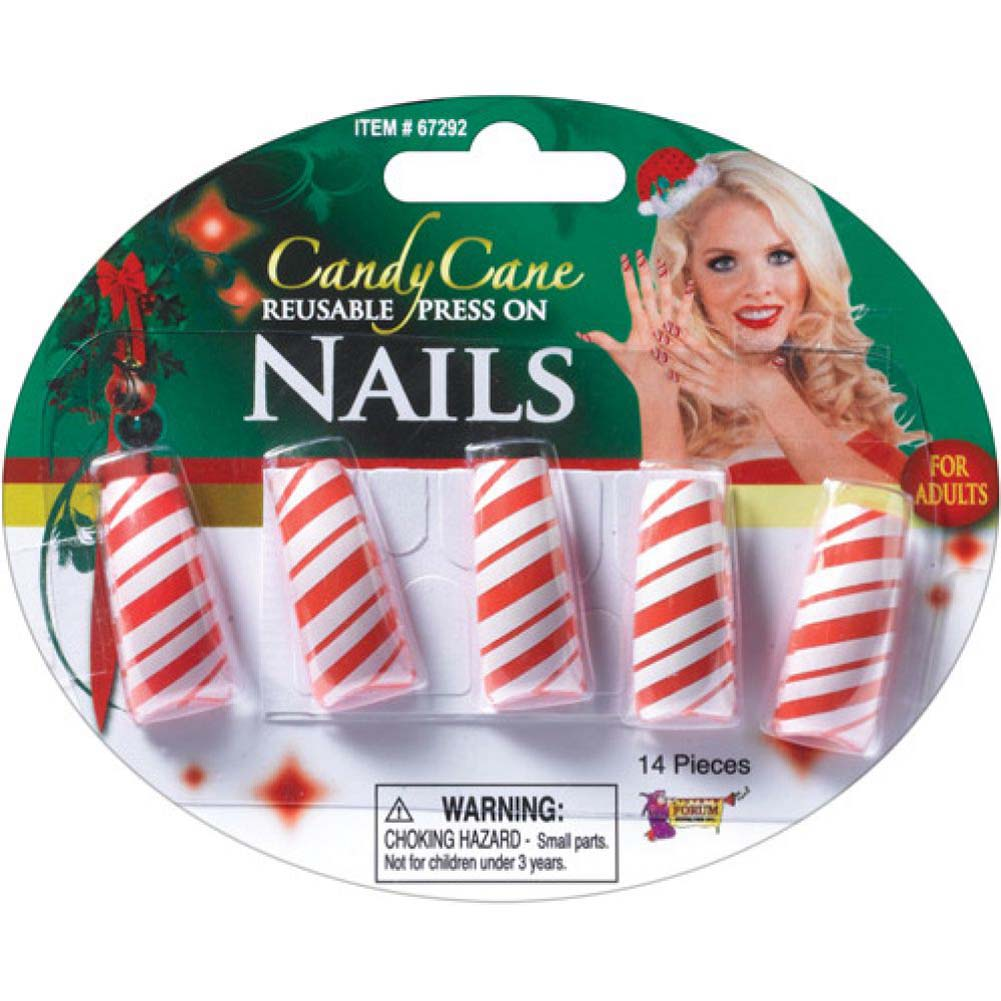 Forum Novelties Candy Cane Nails Pack of 5 - View #1