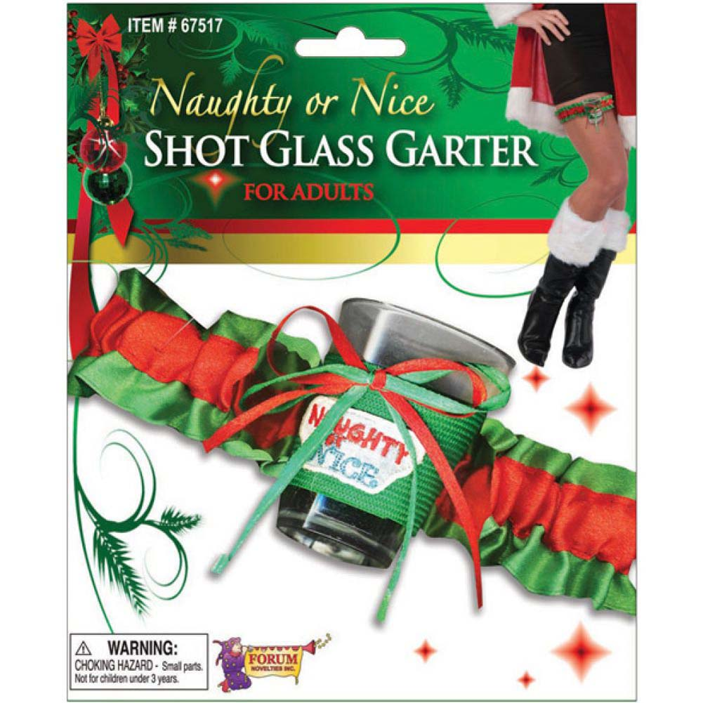 Forum Novelties Naughty Or Nice Shot Glass Garter - View #1