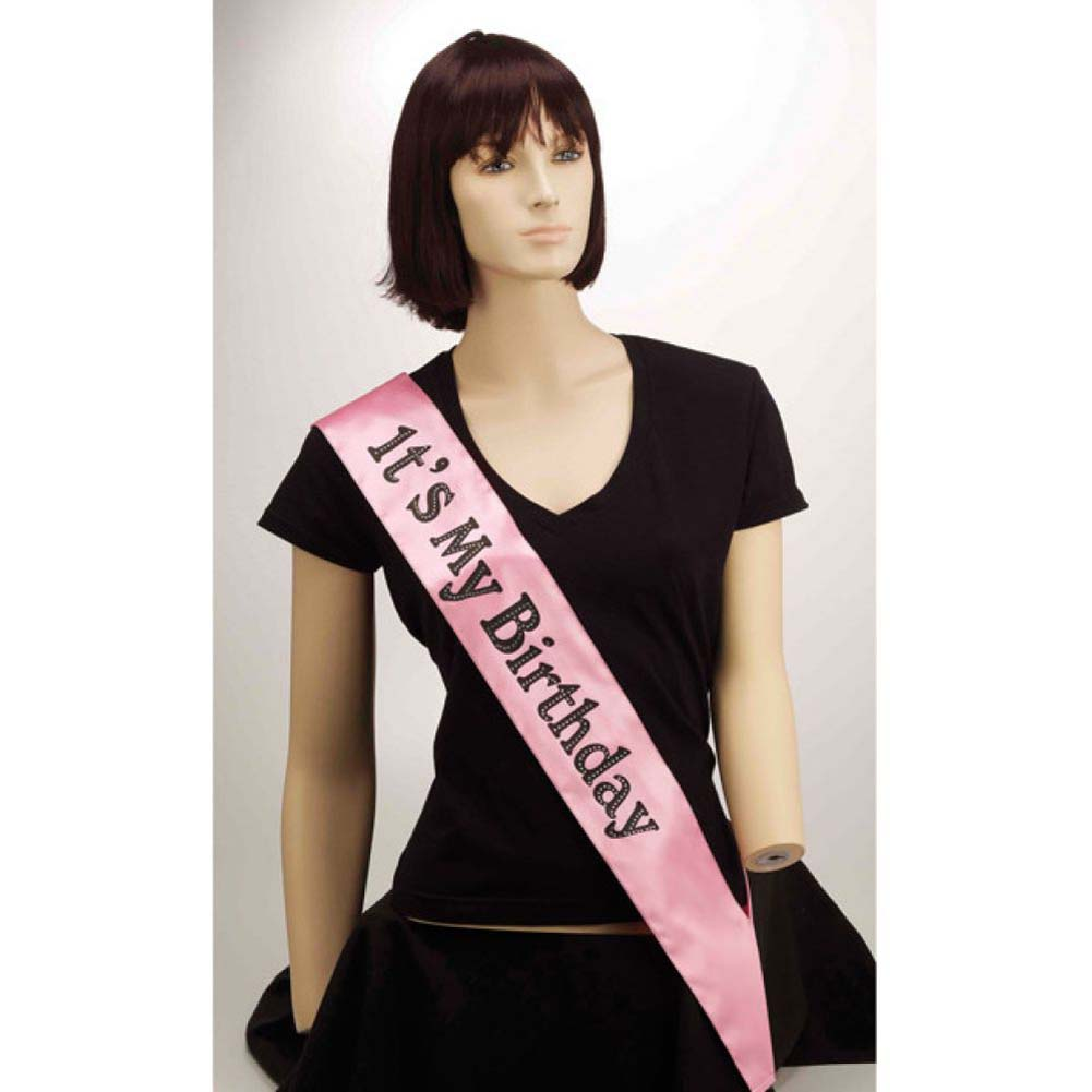 Forum Novelties ItS My Birthday Sash Pink - View #1