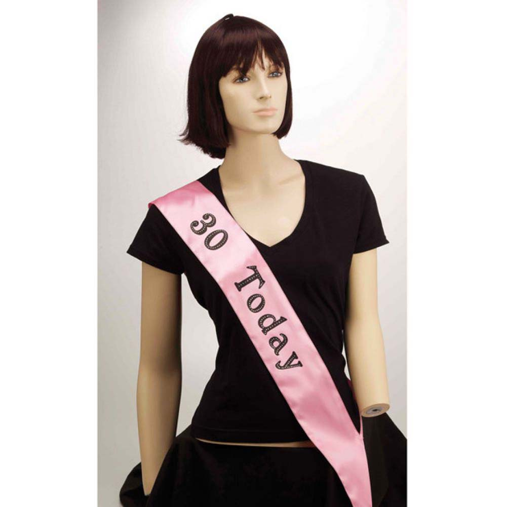 Forum Novelties 30 Today Sash Pink - View #1