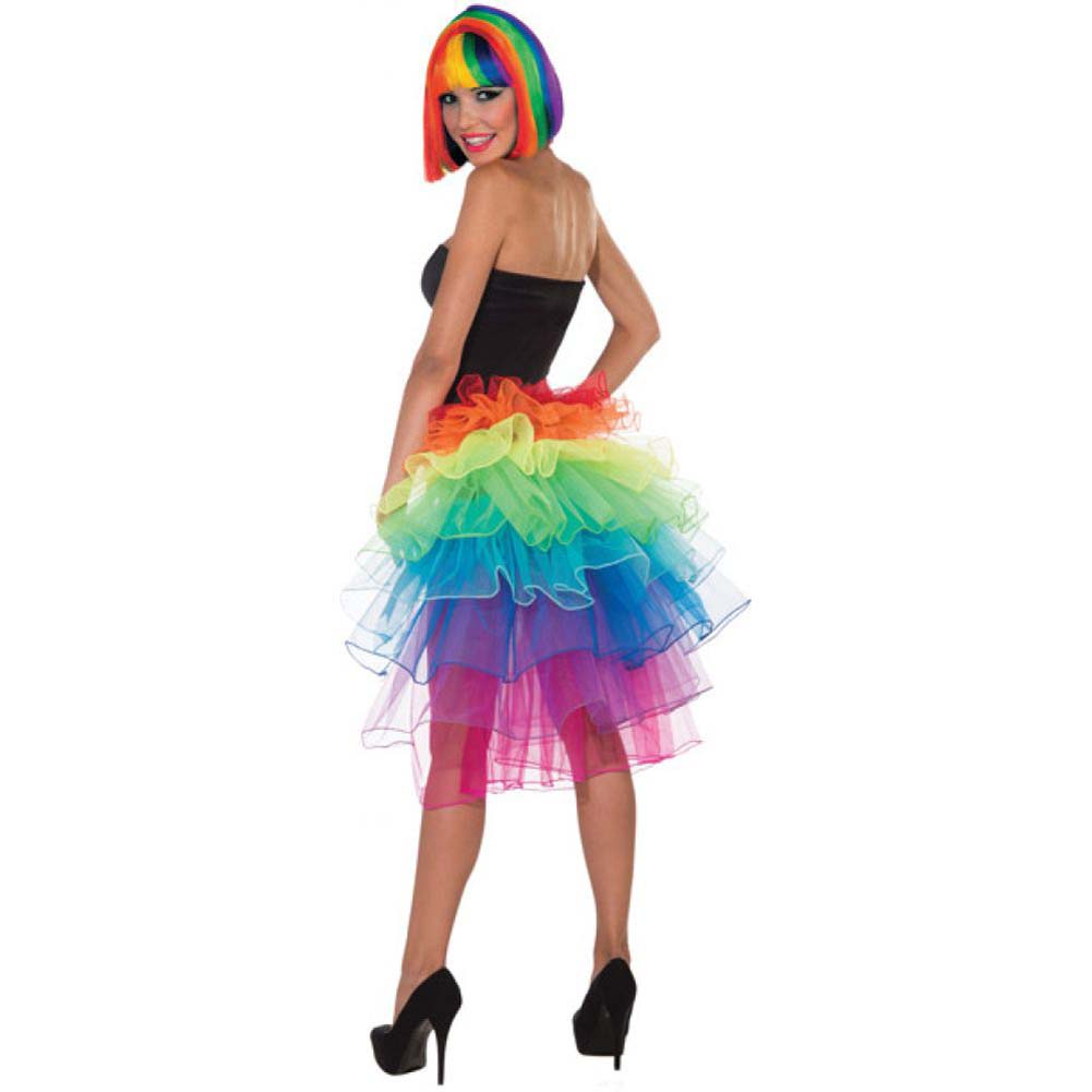 Forum Novelties Rainbow Bustle Petticoat Skirt One Size - View #1