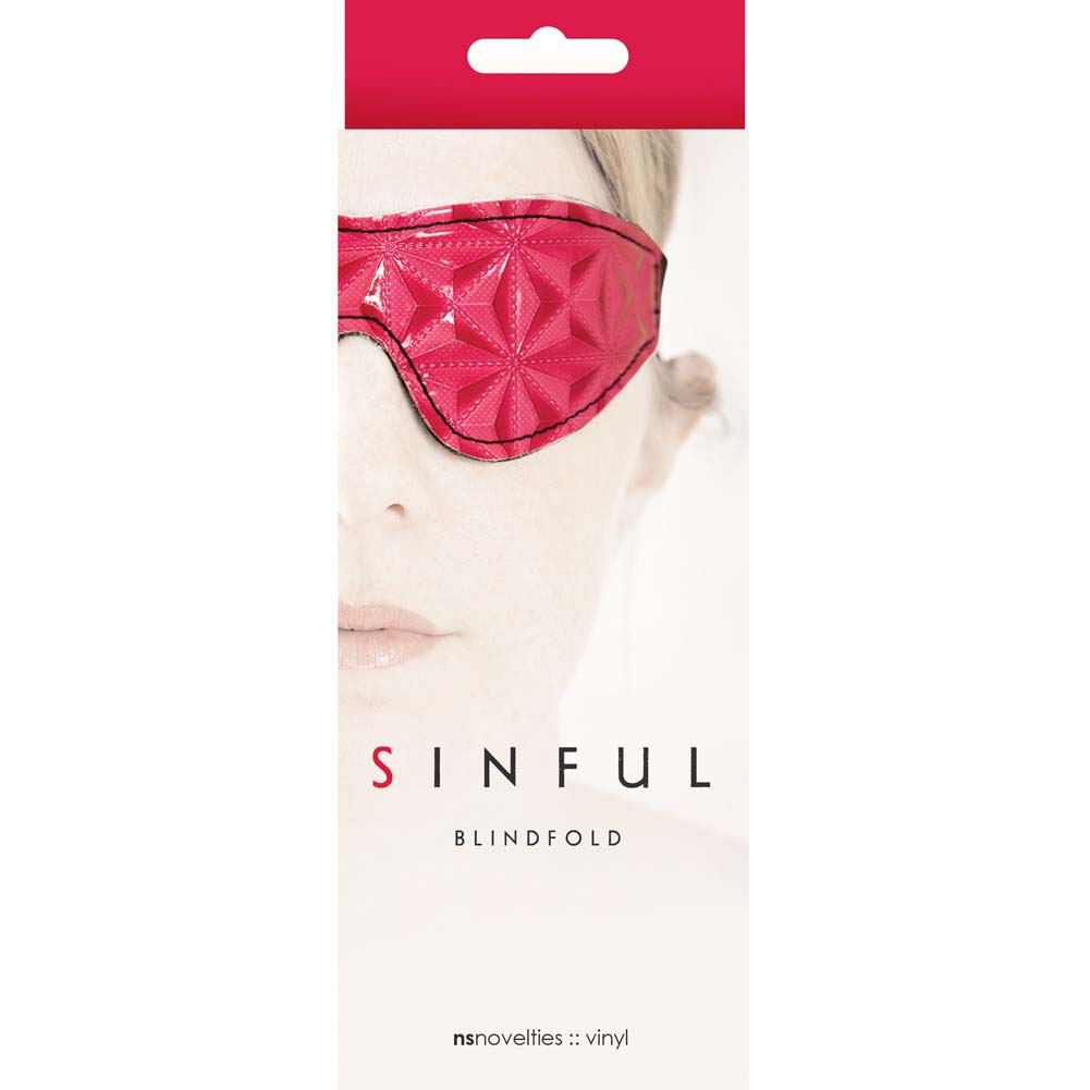 NS Novelties Sinful Blindfold Pink - View #1