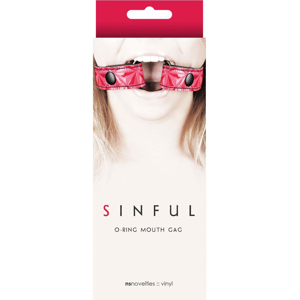 NS Novelties Sinful O Ring Mouth Gag Pink - View #1