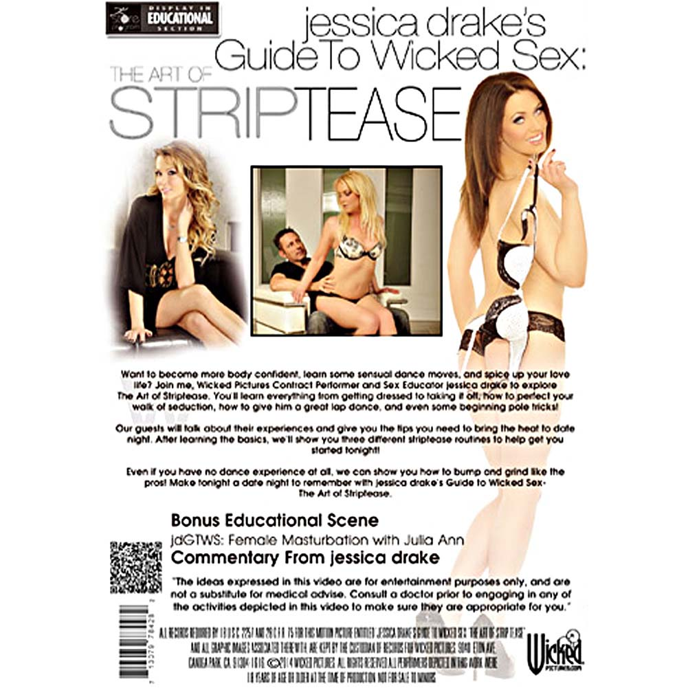 Jessica Drake Guide To Wicked Sex The Art Of Strip Tease DVD - View #2