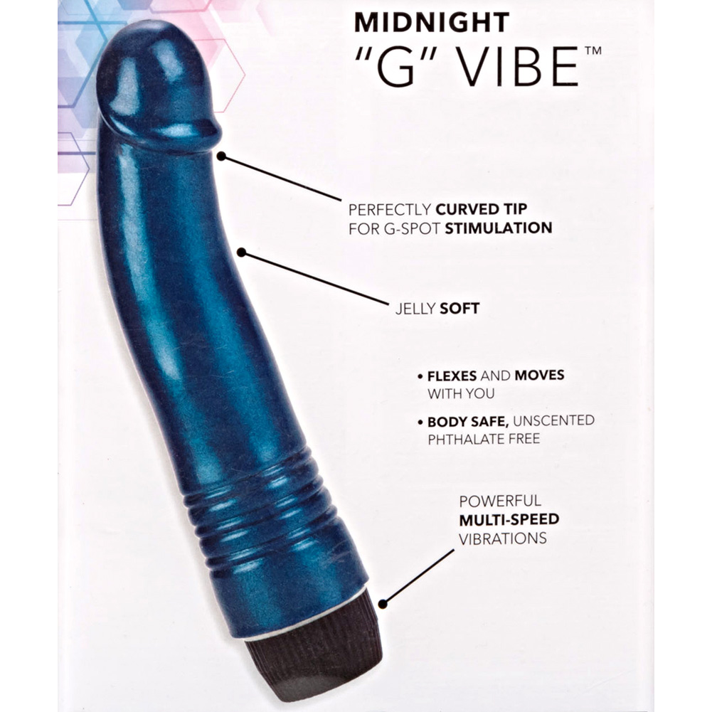 "California Exotics Midnight G-Spot Vibrator 6.75"" Blue - View #1"