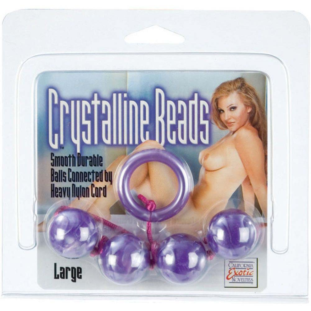 Crystalline Large Anal Beads - Purple - View #2