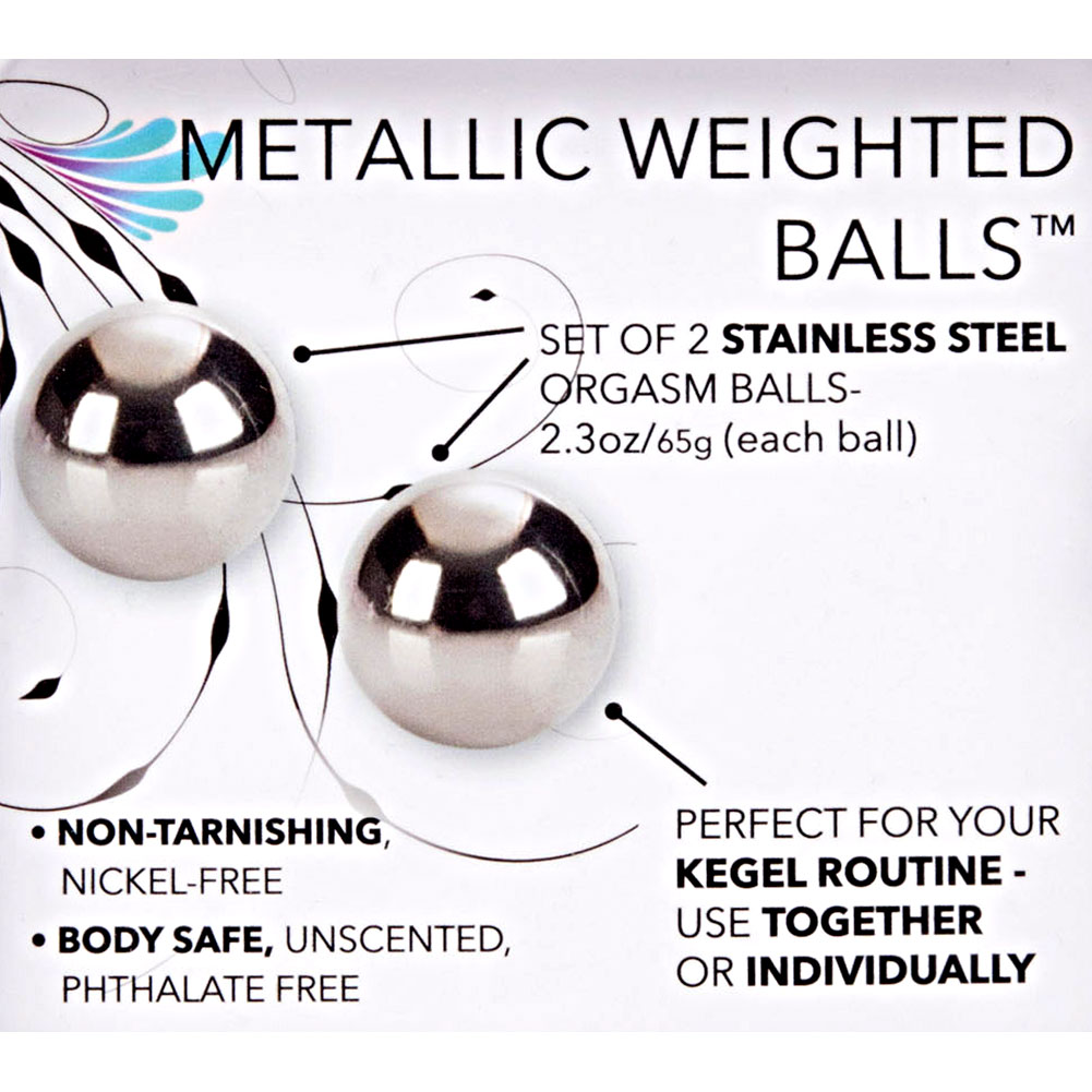"California Exotics Weighted Orgasm Balls 1"" Metallic - View #1"