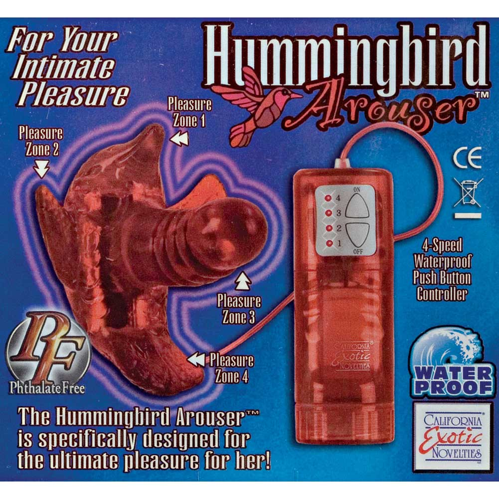 "California Exotics Hummingbird Arouser Vibrator 4"" Red - View #1"