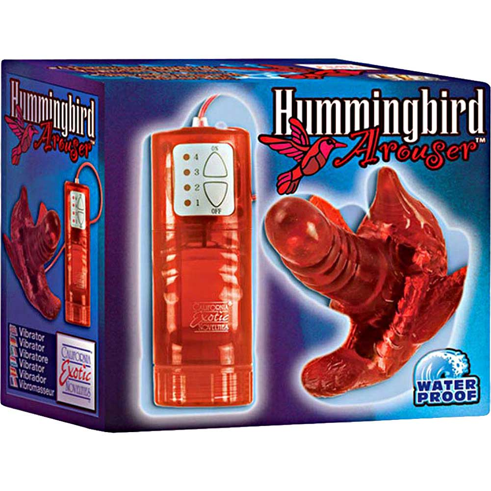 "California Exotics Hummingbird Arouser Vibrator 4"" Red - View #3"