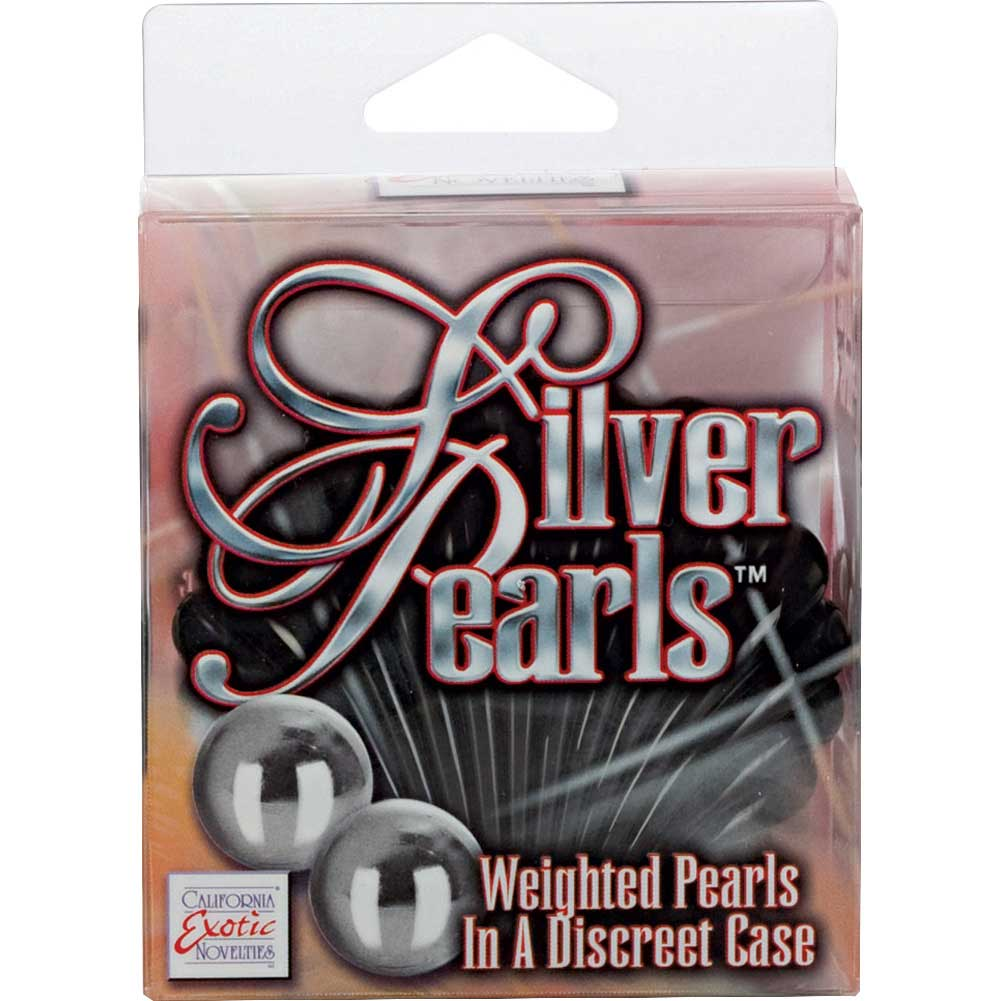 "California Exotics Silver Pearls in Black Case 0.7"" Silver - View #3"