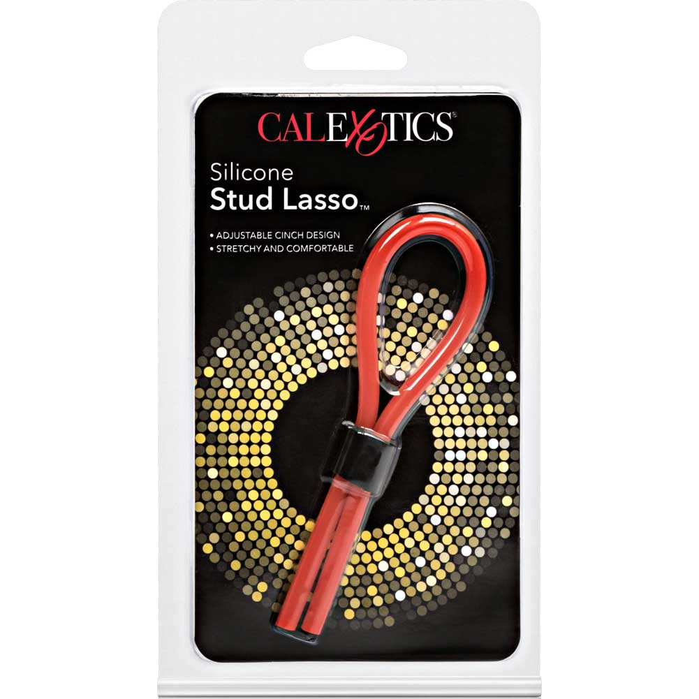 Silicone Stud Lasso Ring - Red - View #4