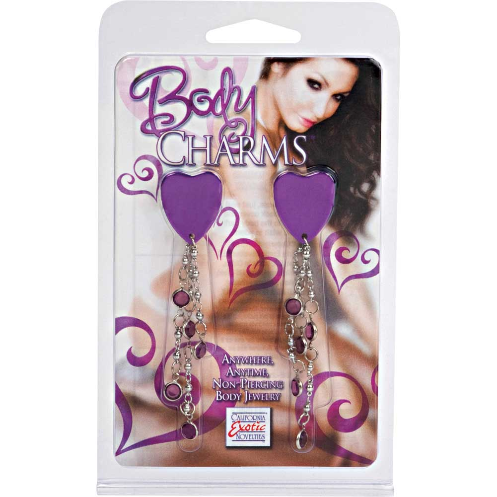 Body Charms Purple Hearts Body Jewelry - View #3