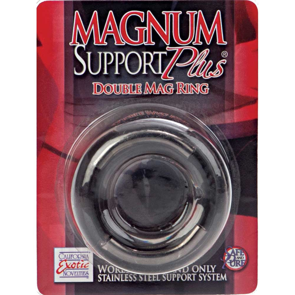 """California Exotics Magnum Support Plus Double Mag Cock Ring 1.25"""" Smoke - View #4"""