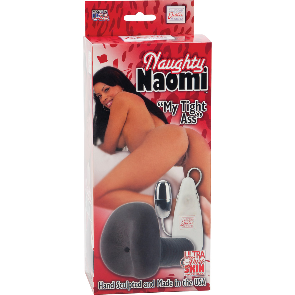 California Exotics Naughty Naomi Ultra Pure Skin Vibrating Stroker My Tight Ass Brown - View #4
