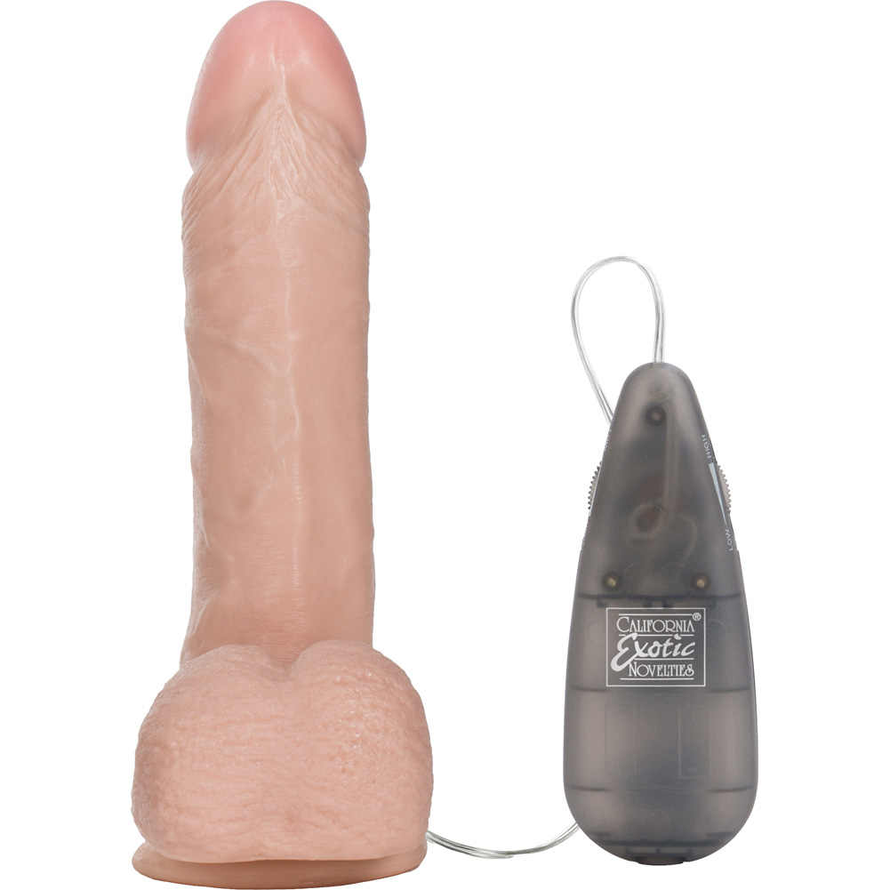 California Exotics Vibrating Emperors Better Than Real Suction Cup Dildo 6-Inch Flesh - View #3