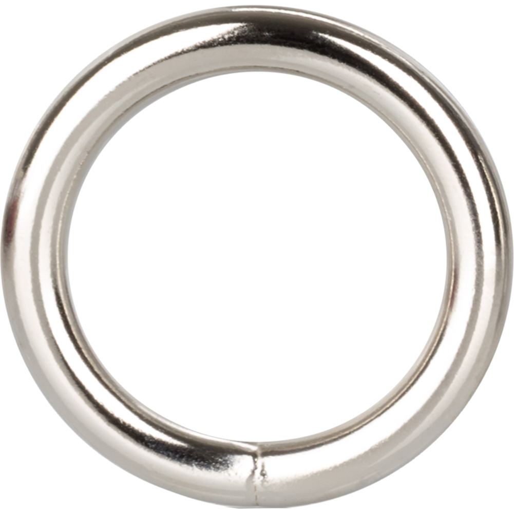 "Metal Cock Ring 1.25"" Silver - View #2"