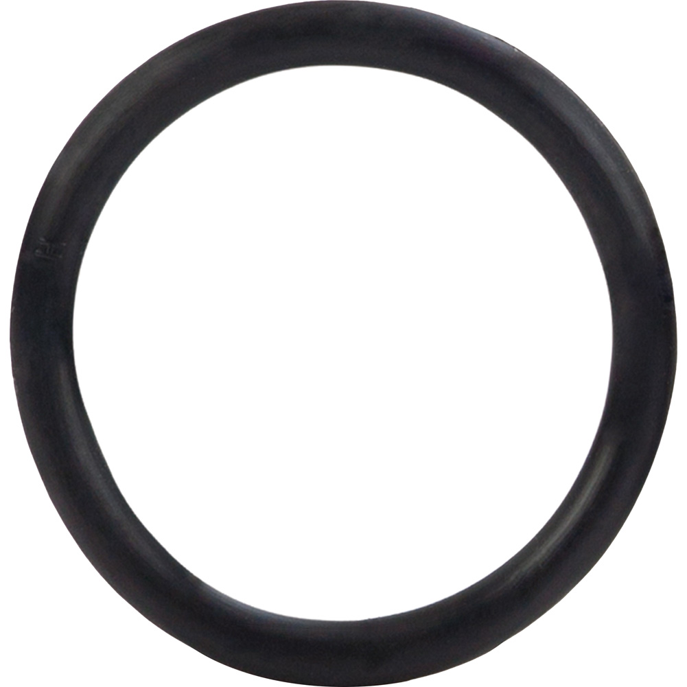 "Large Rubber Cock Ring 2.5"" Black - View #2"