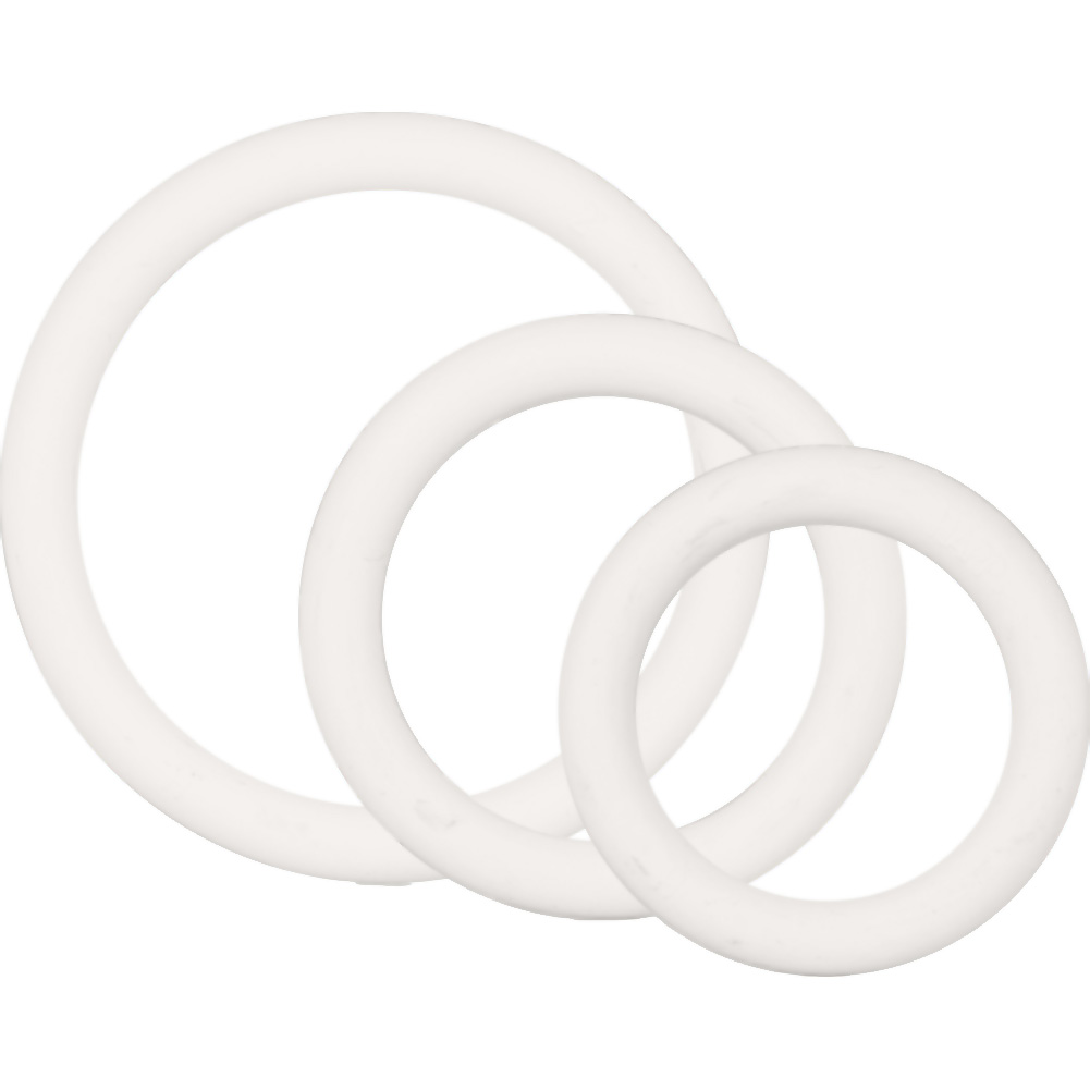 Rubber Ring 3 Piece Erection Ring Set 3 Sizes White - View #3
