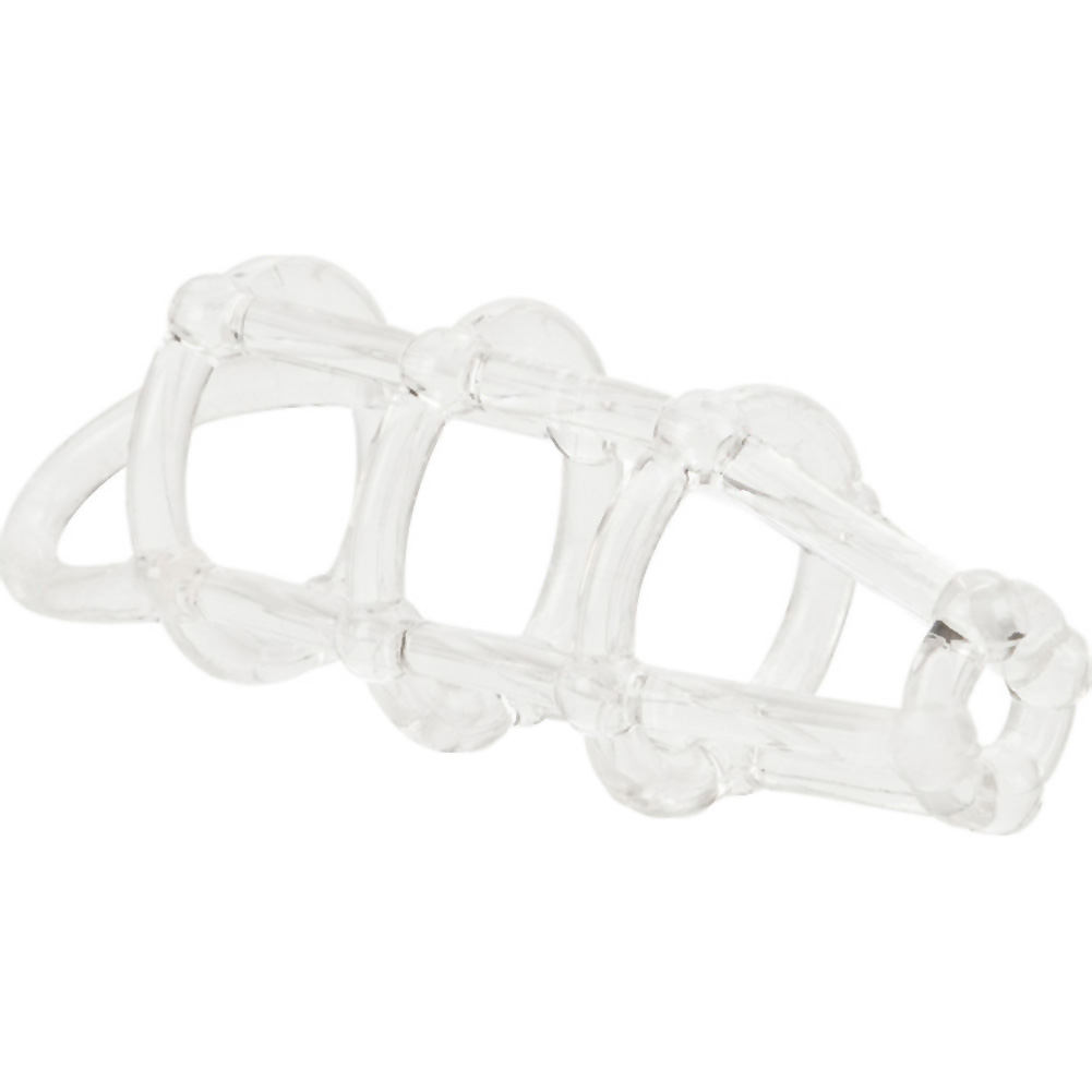 "Cock Cage Enhancer 4.5"" Clear - View #4"