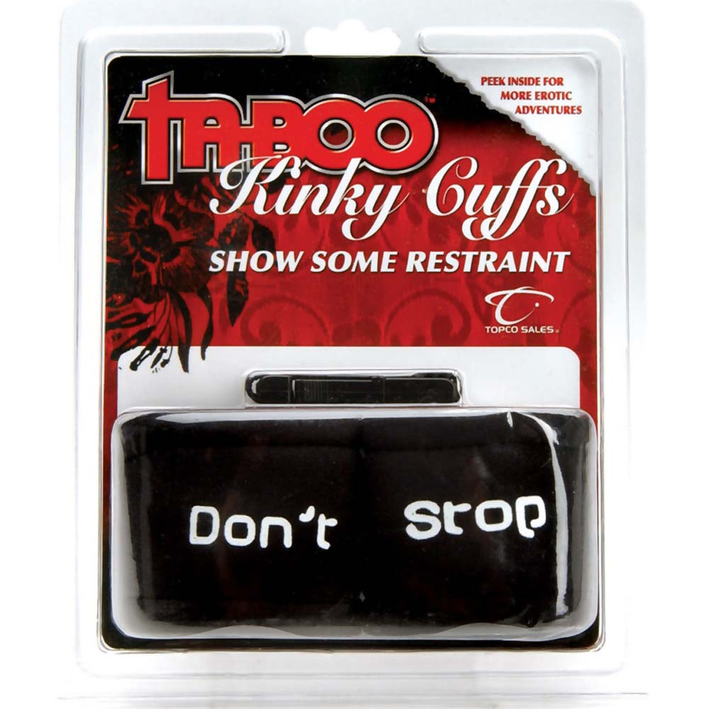 Topco Taboo Kinky Cuffs Dont Stop Neoprene Black - View #2