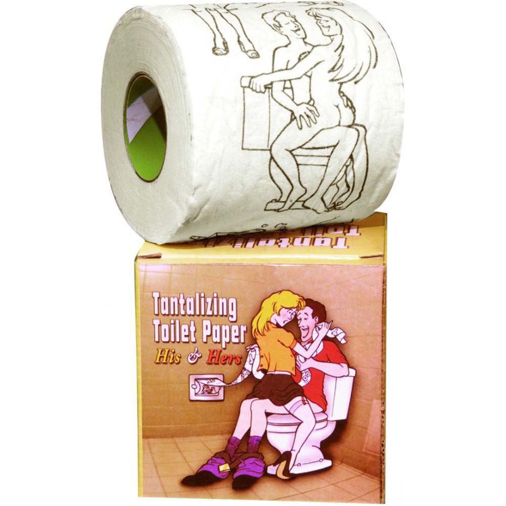 Pipedream Tantalizing Toilet Paper His and Hers Per Roll - View #1