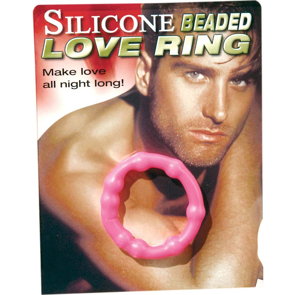 Pipedream Silicone Beaded Love Ring Clear - View #1