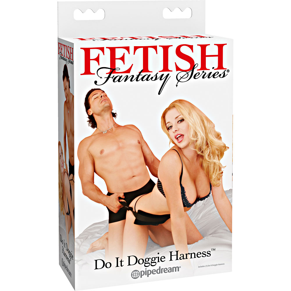 Pipdream Fetish Fantasy Series Do It Doggie Harness Black - View #4