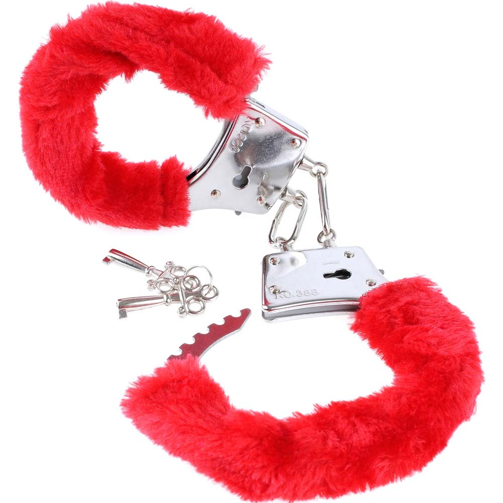 Pipedream Fetish Fantasy Series BeginnerS Furry Cuffs Red - View #2