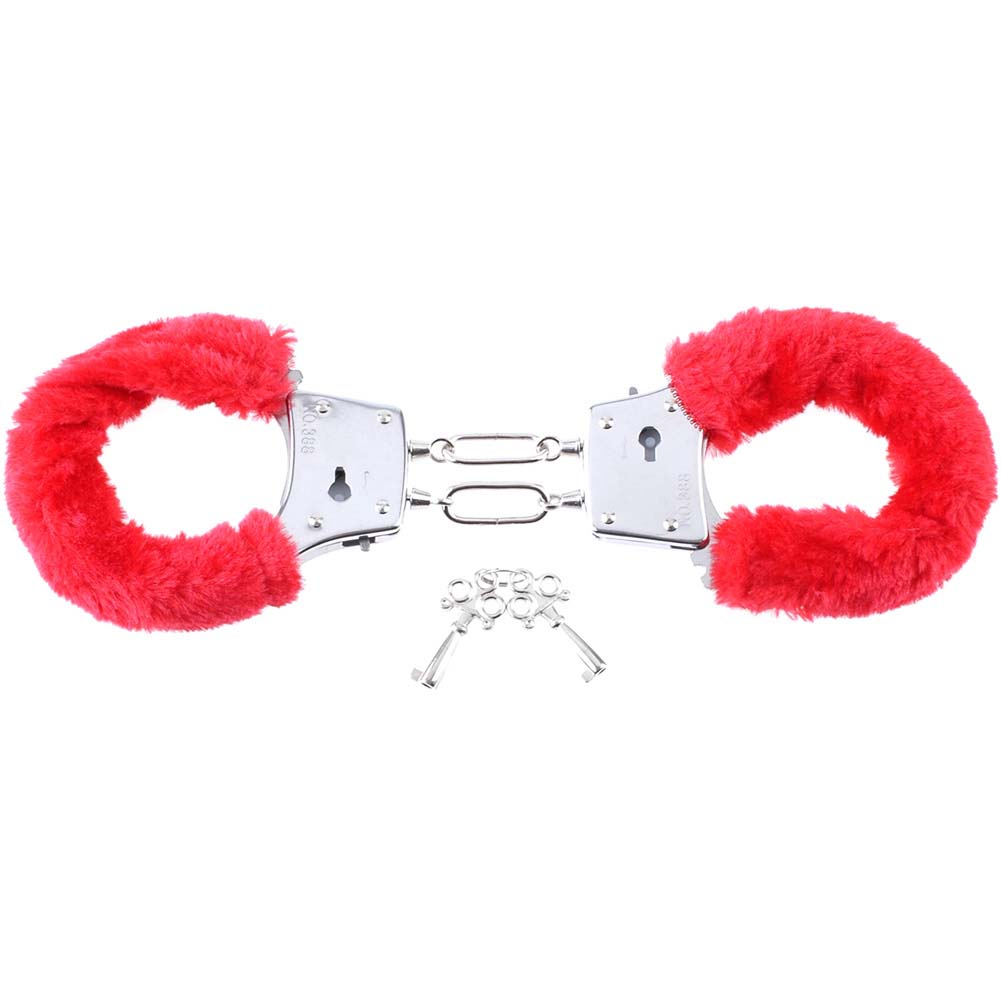 Pipedream Fetish Fantasy Series BeginnerS Furry Cuffs Red - View #4