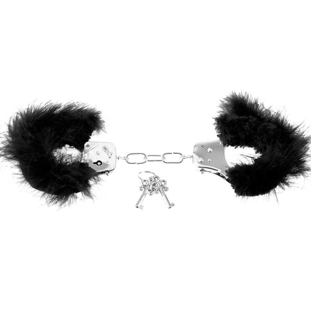 Pipedream Fetish Fantasy Series Feather Love Cuffs Black - View #4